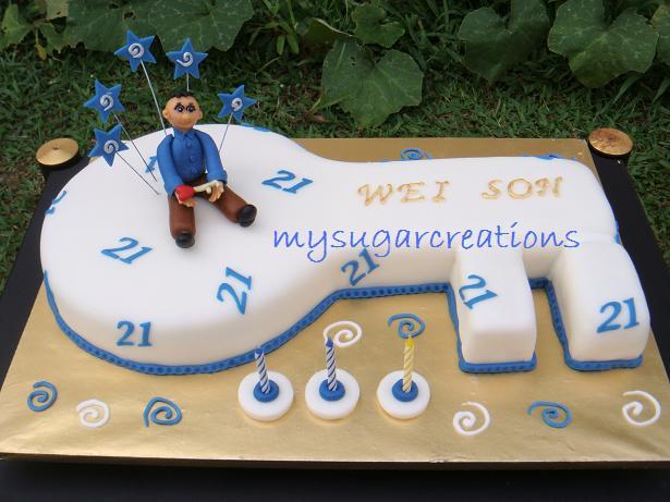 funny birthday cake quotes. 21ST BIRTHDAY KEY SHAPED CAKE