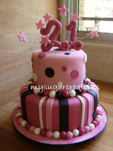 My Sugar Creations 001943746M 21st Birthday Cake Cindy