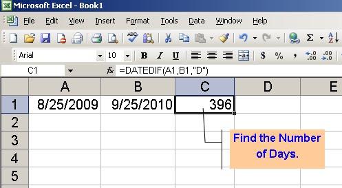 Subtract dates