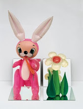 Inflatable Flower and Bunny by Jeff Koons