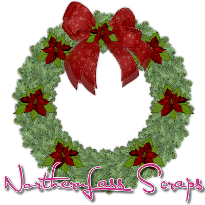 http://nothernlassscraps.blogspot.com/2009/12/freebie-christmas-wreath.html