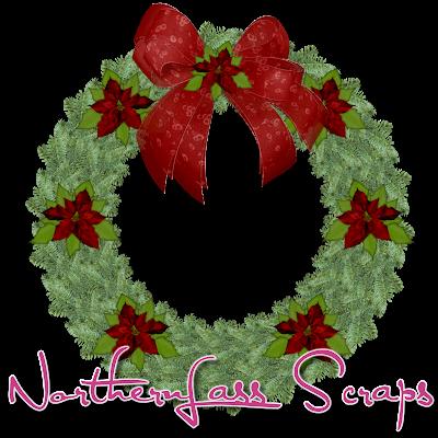 http://nothernlassscraps.blogspot.com/2009/12/freebie-christmas-wreath.html