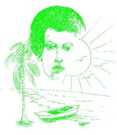 Dibujo de Wilfrido Velazquez,para el libro espejismo de Luna Llena