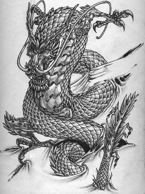 dragon tattoo flash. Dragon tattoo. Best Tattoo on Body