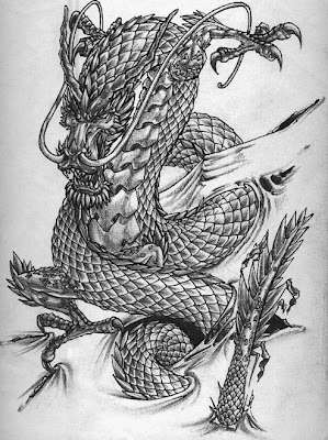 TattooFinder.com artist Brian Burkey's dragon tattoo design