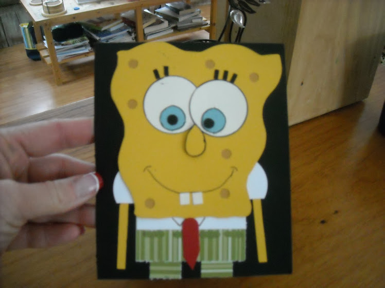 Sponge Bob Birthday Card