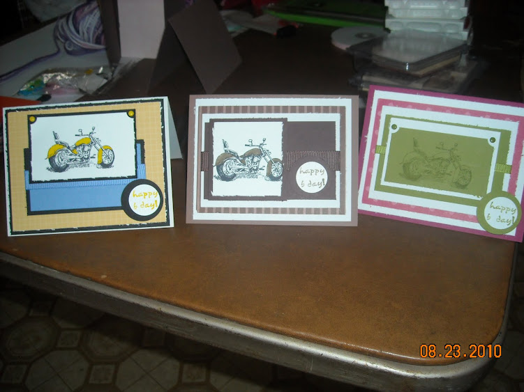Cards for men, cute motorcylce stamp