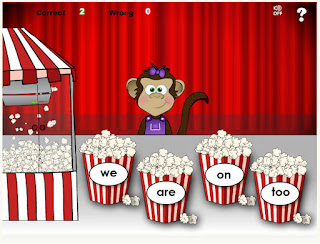 popcorn words reading game