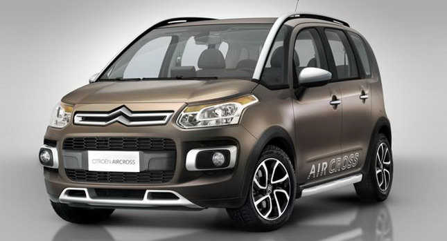 world concept cars new citro n aircross first photos of c3 picasso based crossover. Black Bedroom Furniture Sets. Home Design Ideas