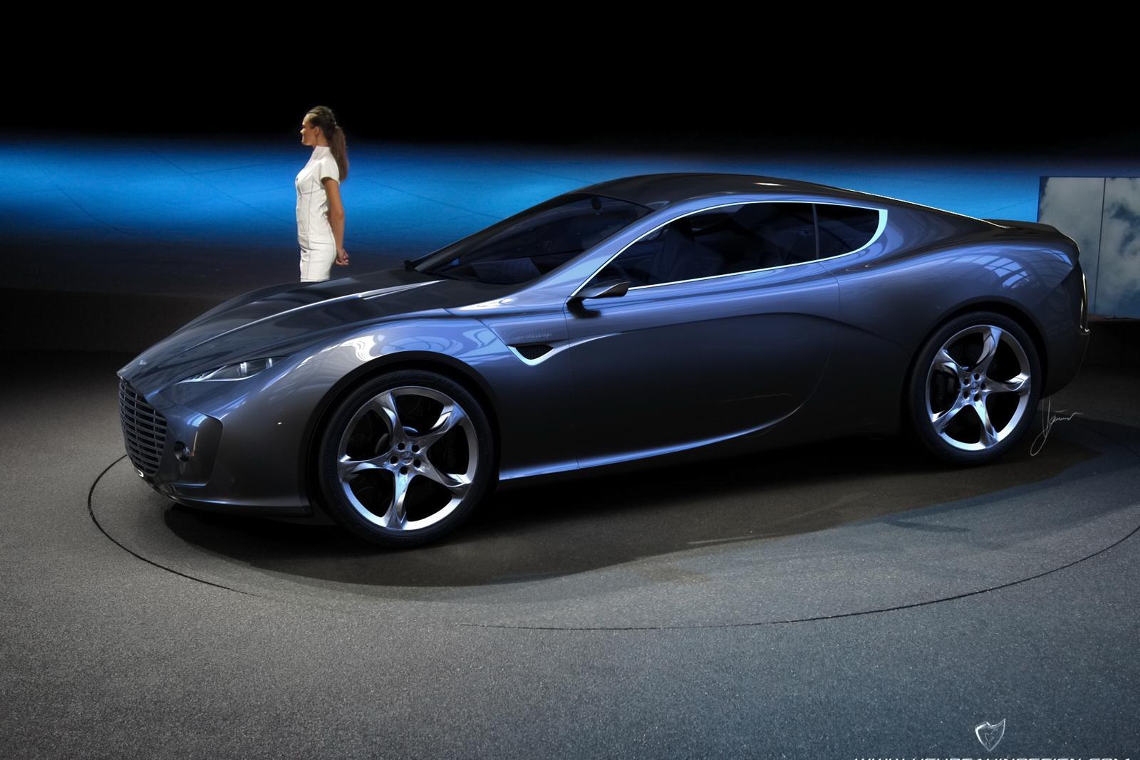 world concept cars aston martin gauntlet design concept  ugur sahin