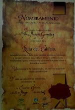 Diploma que se entrega al viajero cuando se presentan las credenciales selladas
