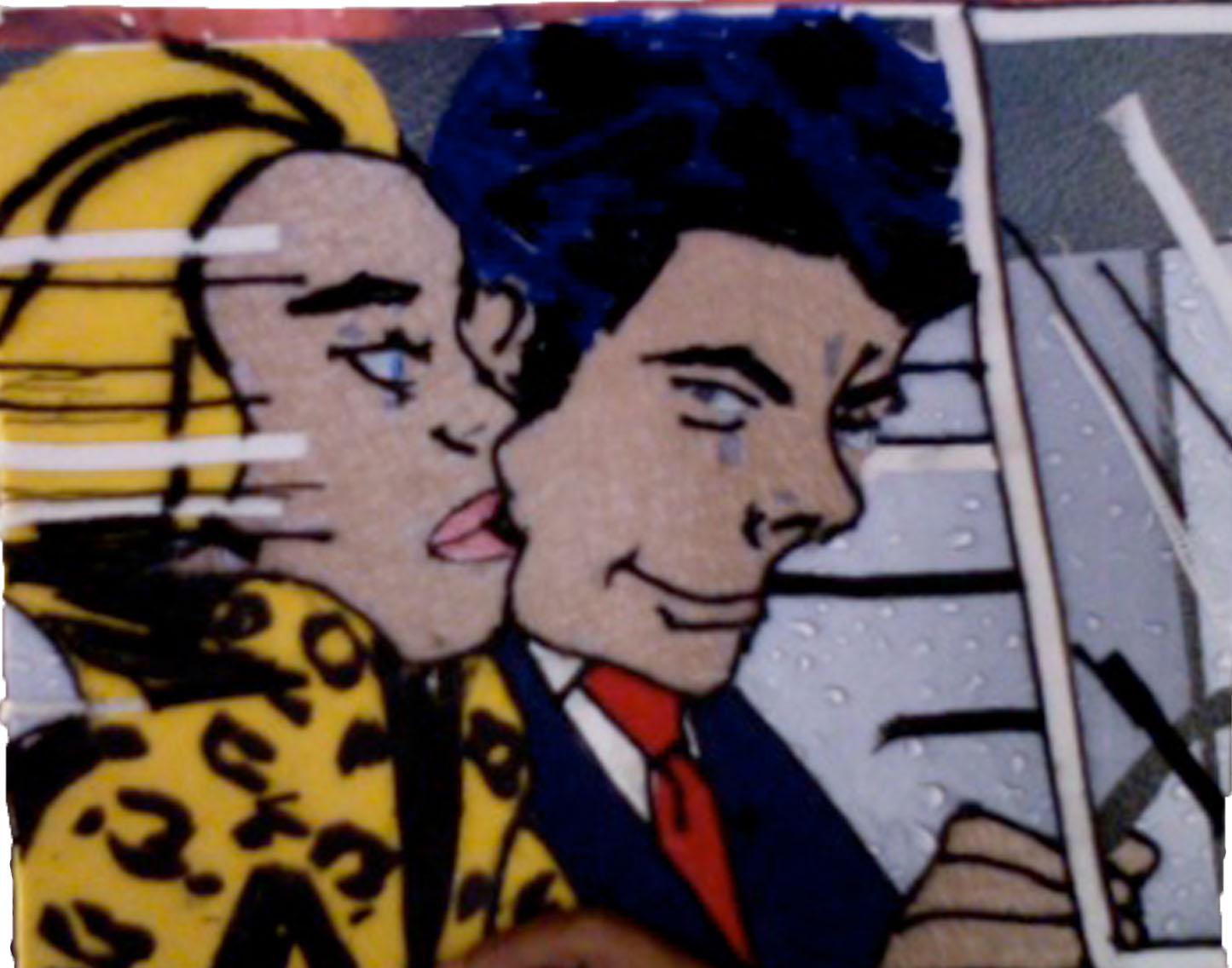 my portfolio page texture project riding in a car by roy lichtenstein. Black Bedroom Furniture Sets. Home Design Ideas