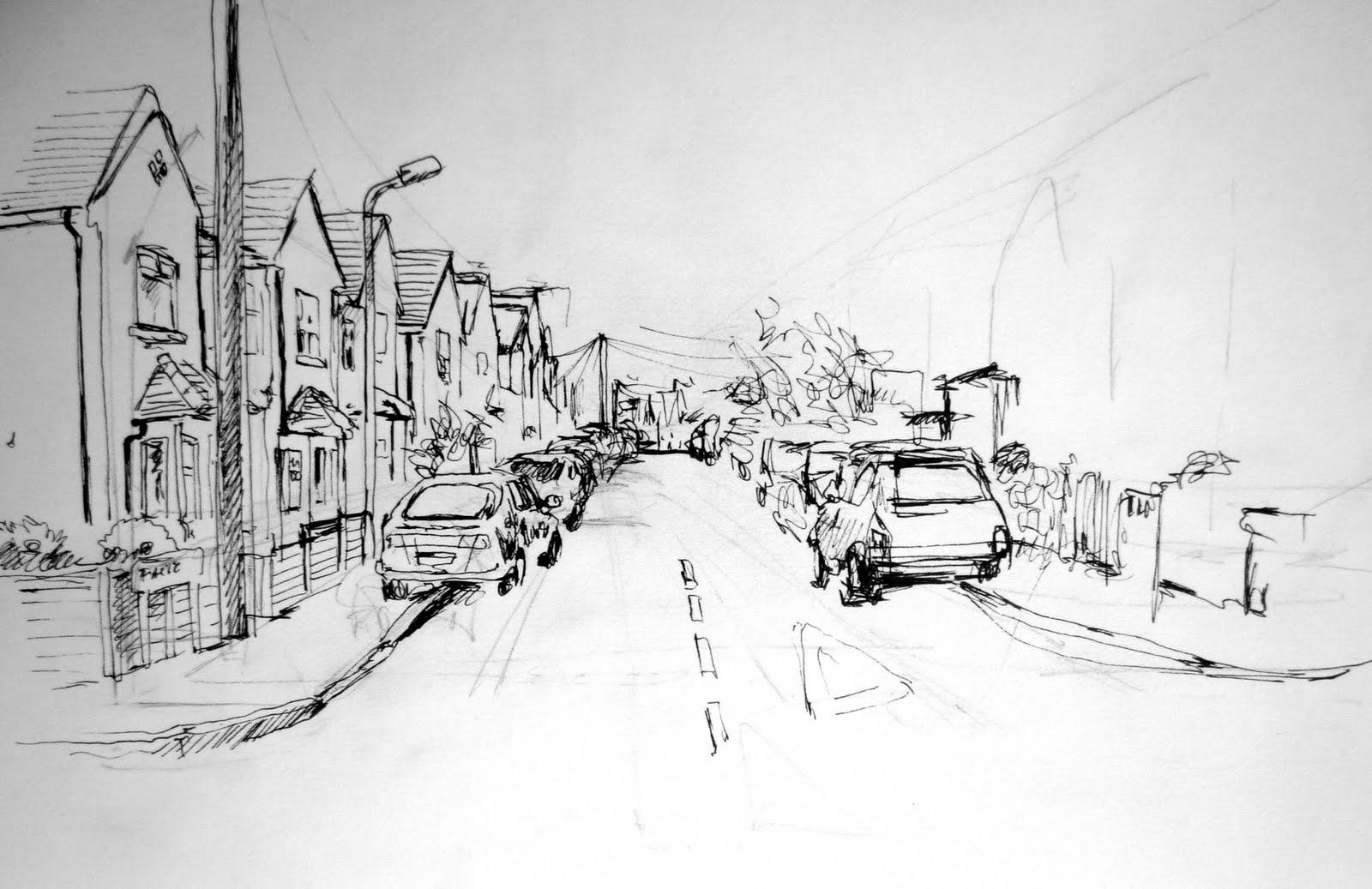 Exploring Illustration: Street: Perspective problems