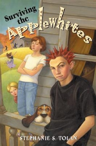 surviving the applewhites Jake semple, a smartass troublemaker, is sent to live with his grandfather after being kicked out of several schools once there, it is no problem getting put out of traybridge middle school, but the applewhite's creative academy is another story.
