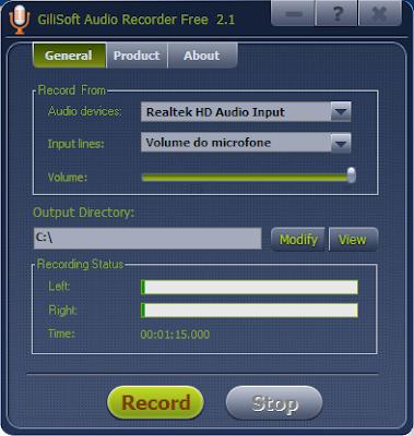 gravar músicas de streaming da web