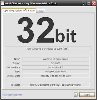 saber se meu pc é 32 ou 64 bits