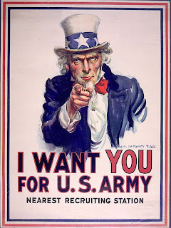 uncle sam i want you recruiting poster world war one