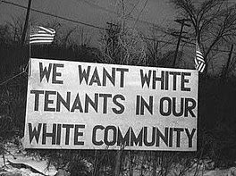 whites only, sign, sojourner truth, housing, detroit, apartheid, segregation