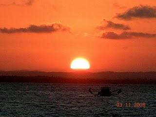 por do sol em Morro de sao paulo