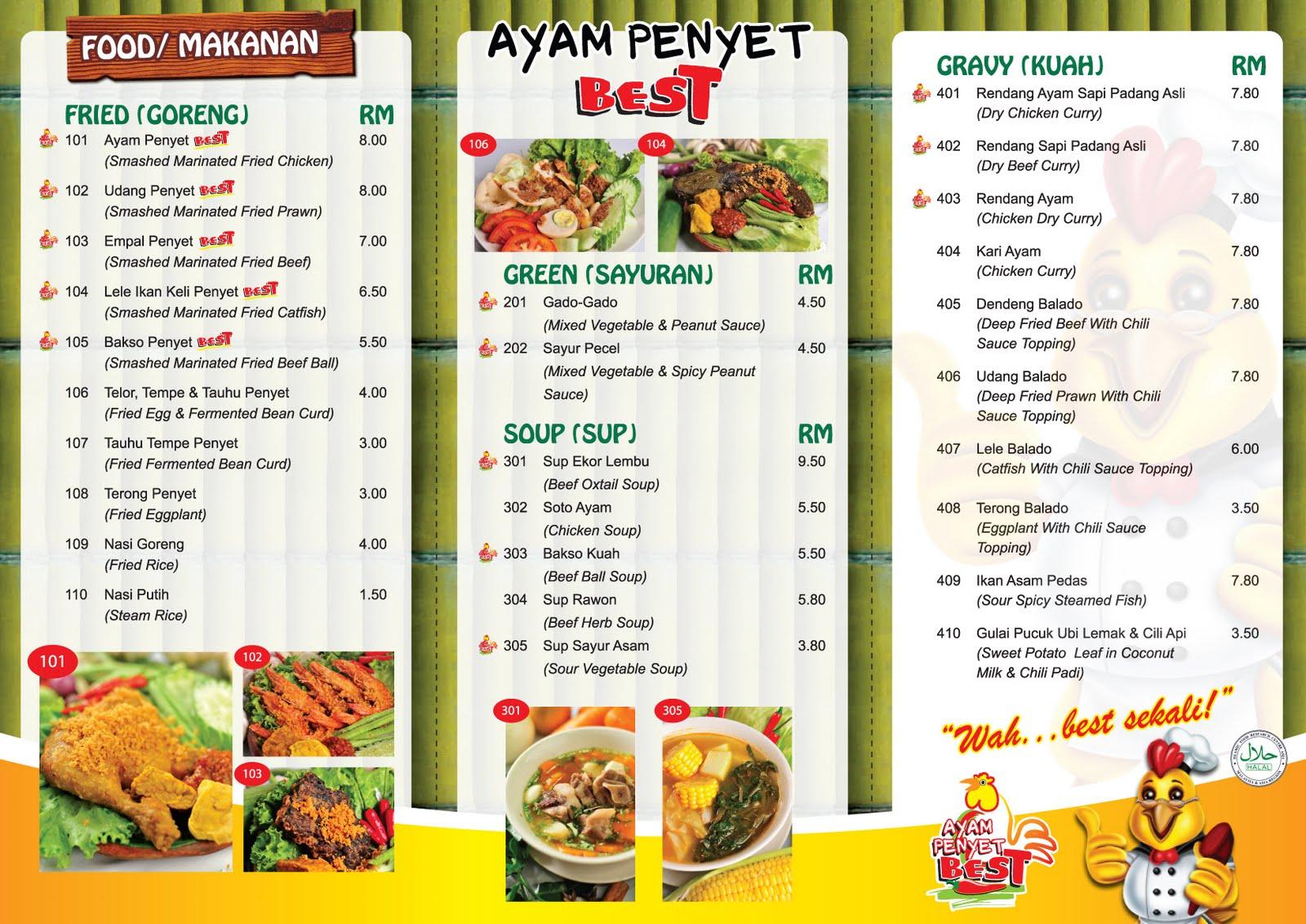Vincianart ayam penyet best restaurant branding