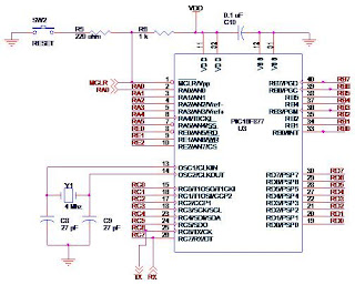 Pic microcontrollerpic16f877a prathap fig 12 circuit diagram of pic16f877a 40 pin pdip ccuart Gallery