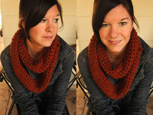 On the wings of a dove: Infinity Scarf Pattern