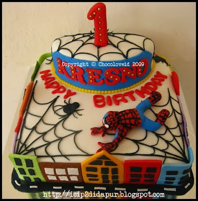 Spiderman Birthday Cake on Spiderman Birthday Cakes