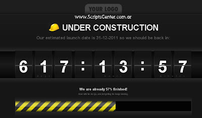 Template Web - Sitio en Construcción - Under Construction Template-Under-Constrution