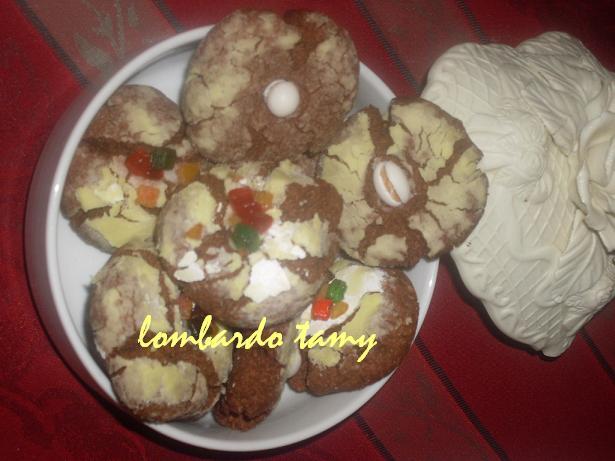 ghrieba au cacao  et noix en poudre  (teste) SDC16978