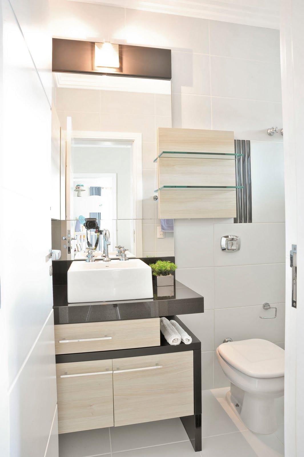 Banheiro do filho linhas retas cores sóbrias tornando o banheiro  #786453 1065x1600 Bancada Banheiro Laca