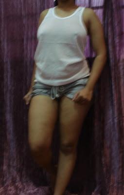 Girl in small cloths bunnt small short