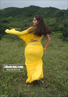 panty in yellow saree sexy