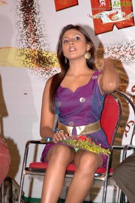 madhushalini panty under skirt
