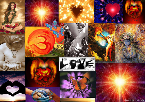 peace and love collage