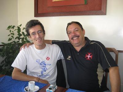 Paulo Jesus e Luís Lacerda a combinarem novo almoço para breve.