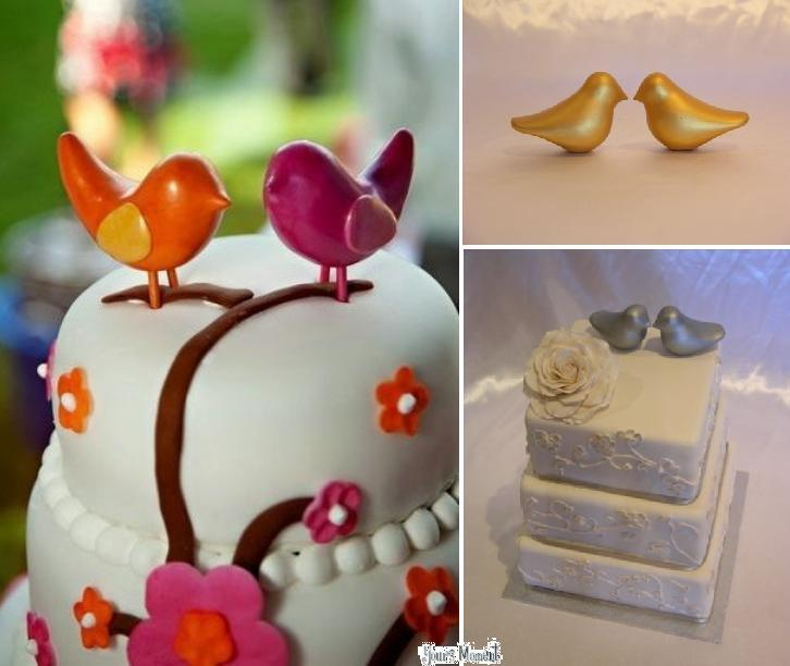 top Gold Bird Wedding Cake Topper from Sugar Rush Cake 39s Shop 39