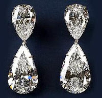 Luxury millionaire designer expensive costly personalised jewellery price rated money diamond earrings pear tear shaped