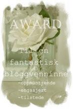"""enda en fantastisk award fra therese fra """"huset med de rare i"""""""