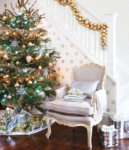 Holiday Decorating Ideas House: How Do I Love Thee: Silver & Gold & White Holiday Decor