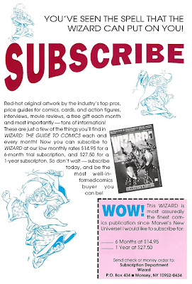 Bart Sears Wizard #2 Subscription advert