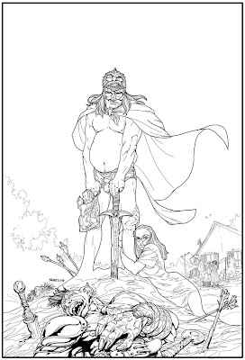 Bart Sears The Helm TPB cover inks