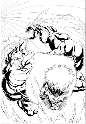 Bart Sears Wizard Unused Cover - Sabretooth
