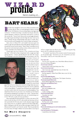 Bart Sears Wizard #54 Profile