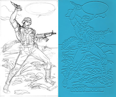 Bart Sears GI Joe Trace Plate - Duke