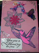 """You are a blessing to me"" card"