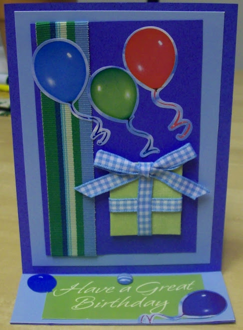 Easel birthday card