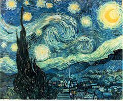 """starry night"" - Vincent Van Gogh"