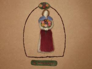 Decoração para Porta, em lã cardada.