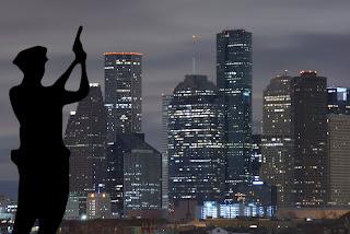 Cops in Houston Illustration