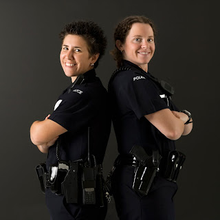 Two female police officers